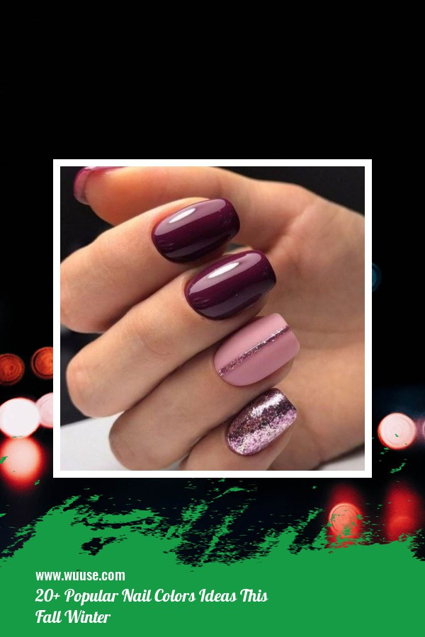 20+ Popular Nail Colors Ideas This Fall Winter 10