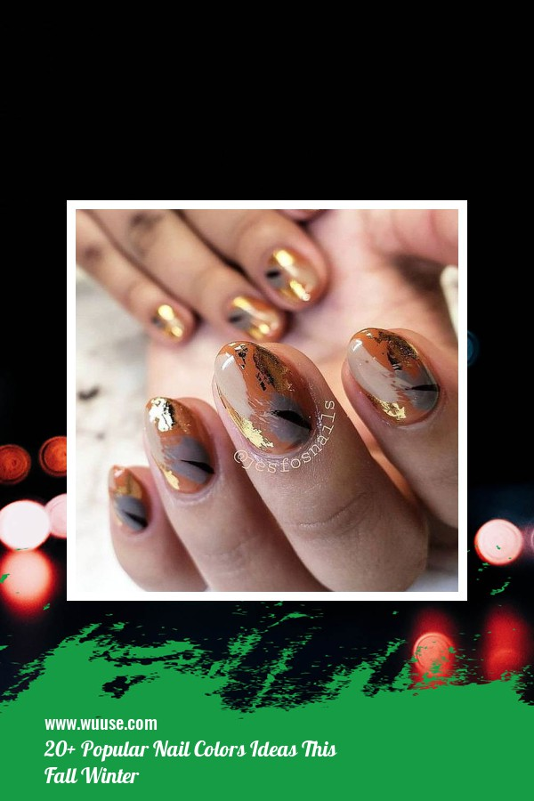 20+ Popular Nail Colors Ideas This Fall Winter 12