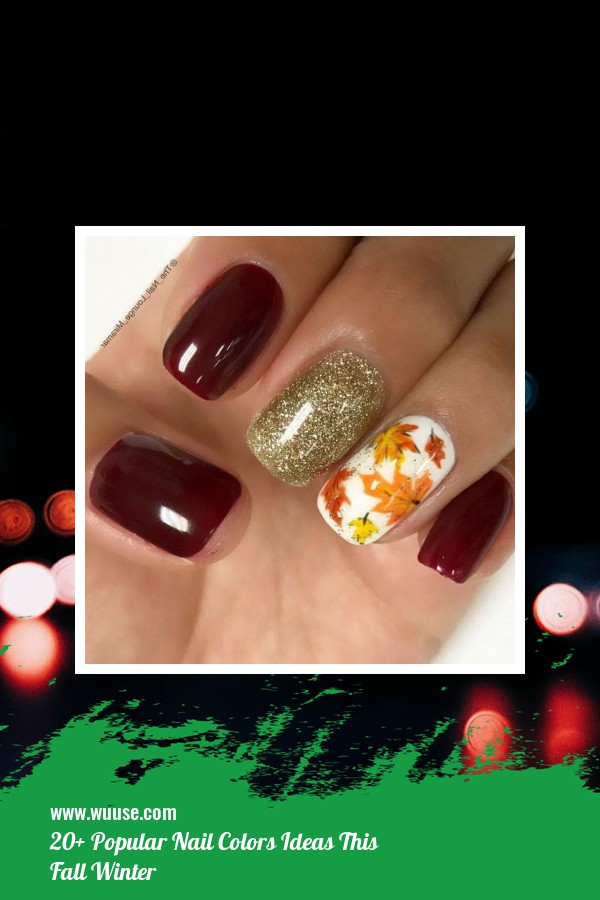 20+ Popular Nail Colors Ideas This Fall Winter 35