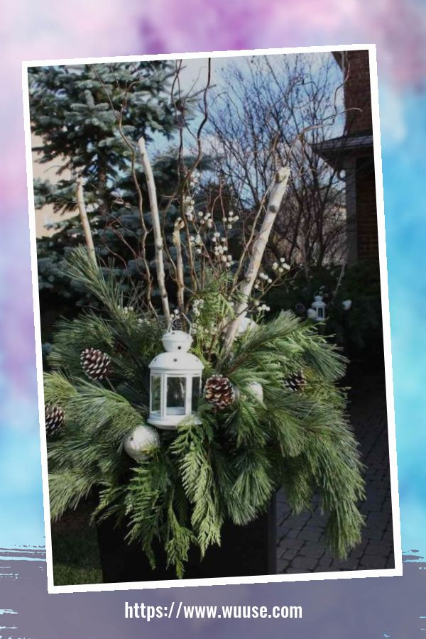 30+ Beautiful Outdoor Winter Planters For Your Outdoor Decoration 3