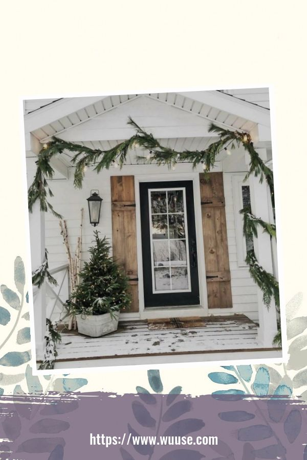 30+ Simple DIY Winter Porch Decoration Ideas On A Budget 1