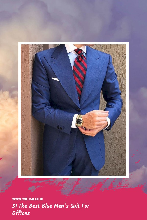 31 The Best Blue Men's Suit For Offices 15