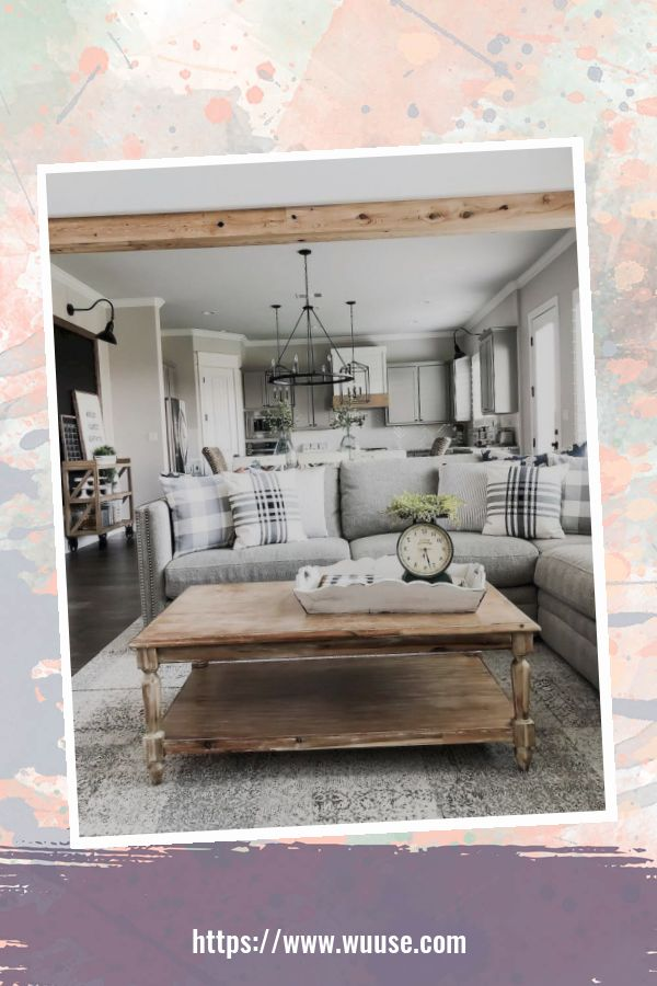 34 Comfy Living Room Decoration Ideas With Farmhouse Style 3