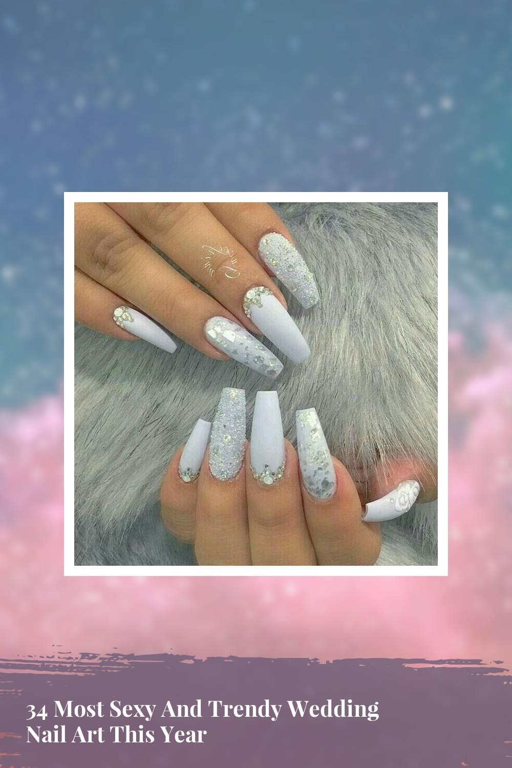 34 Most Sexy And Trendy Wedding Nail Art This Year 1