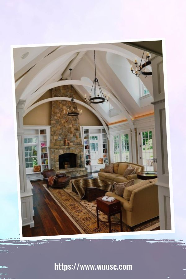 35 Brilliant Living Room Designs Ideas With Exposed Wooden Beams 11