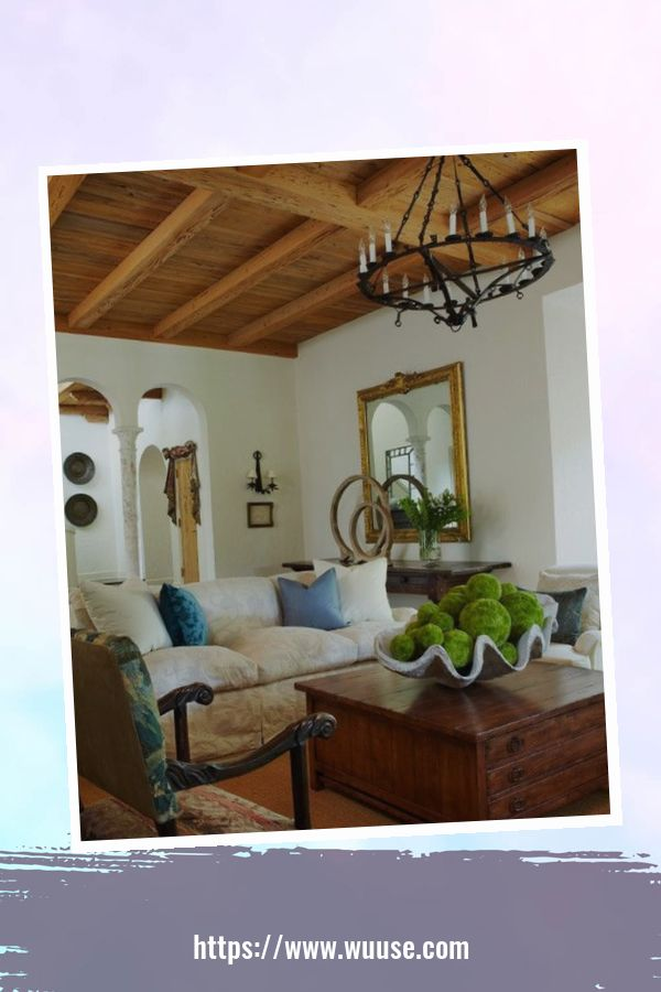 35 Brilliant Living Room Designs Ideas With Exposed Wooden Beams 19
