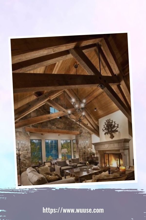 35 Brilliant Living Room Designs Ideas With Exposed Wooden Beams 26