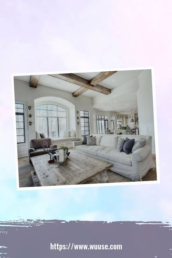 35 Brilliant Living Room Designs Ideas With Exposed Wooden Beams 27