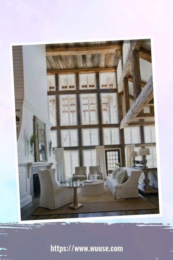 35 Brilliant Living Room Designs Ideas With Exposed Wooden Beams 6