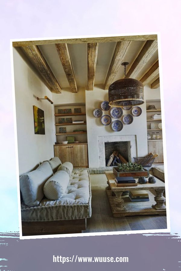 35 Brilliant Living Room Designs Ideas With Exposed Wooden Beams 7