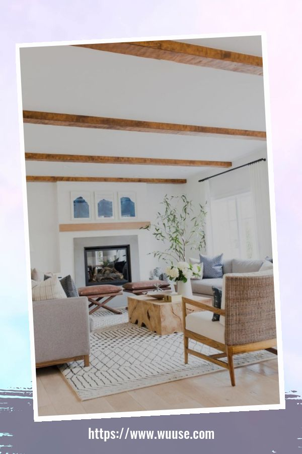 35 Brilliant Living Room Designs Ideas With Exposed Wooden Beams 9
