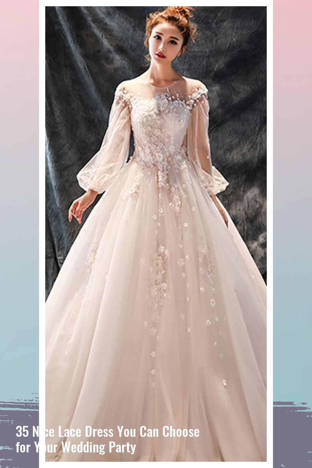 35 Nice Lace Dress You Can Choose for Your Wedding Party 10