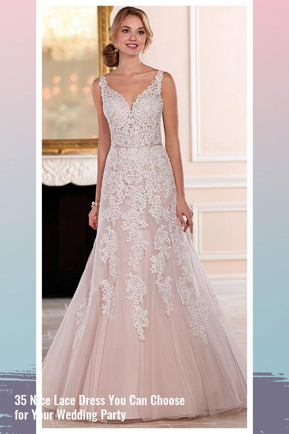 35 Nice Lace Dress You Can Choose for Your Wedding Party 14