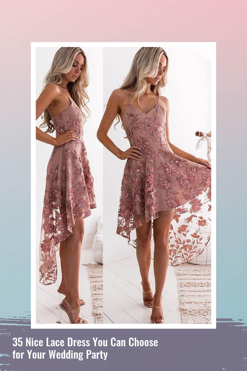 35 Nice Lace Dress You Can Choose for Your Wedding Party 16