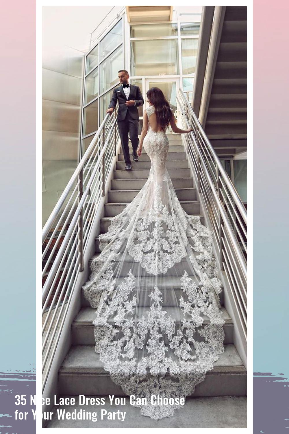 35 Nice Lace Dress You Can Choose for Your Wedding Party 26