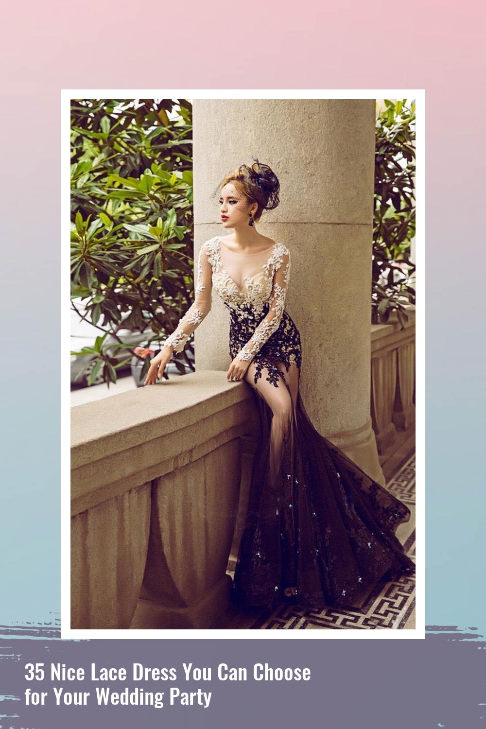 35 Nice Lace Dress You Can Choose for Your Wedding Party 31