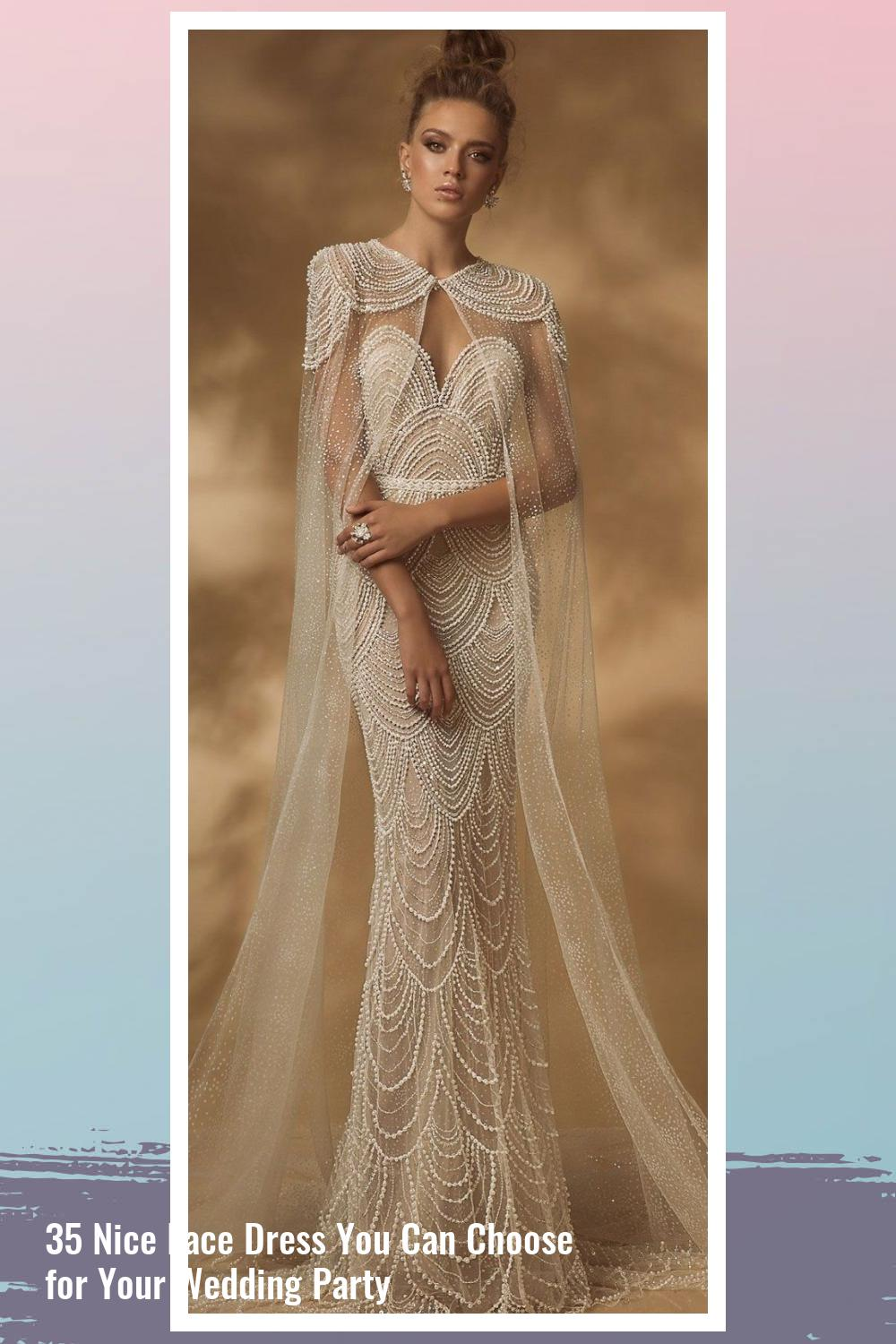 35 Nice Lace Dress You Can Choose for Your Wedding Party 32