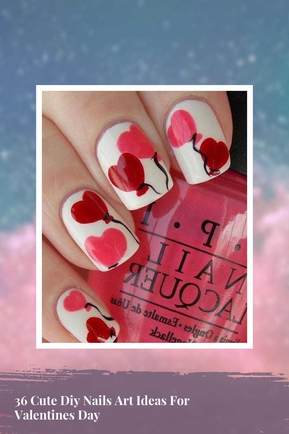 36 Cute Diy Nails Art Ideas For Valentines Day 1
