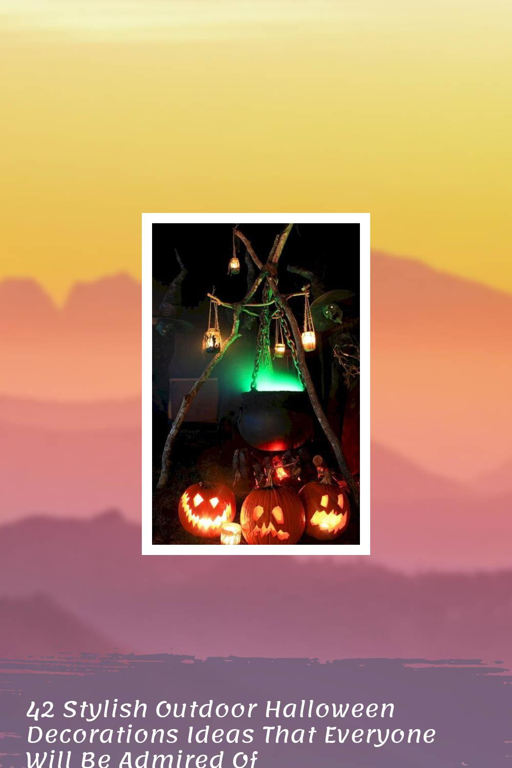 42 Stylish Outdoor Halloween Decorations Ideas That Everyone Will Be Admired Of 1