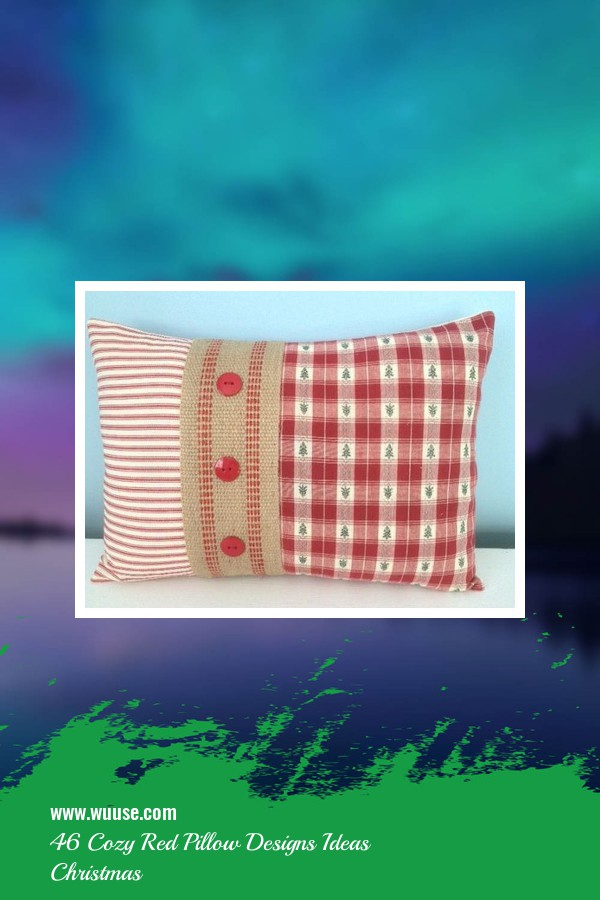 46 Cozy Red Pillow Designs Ideas Christmas 1
