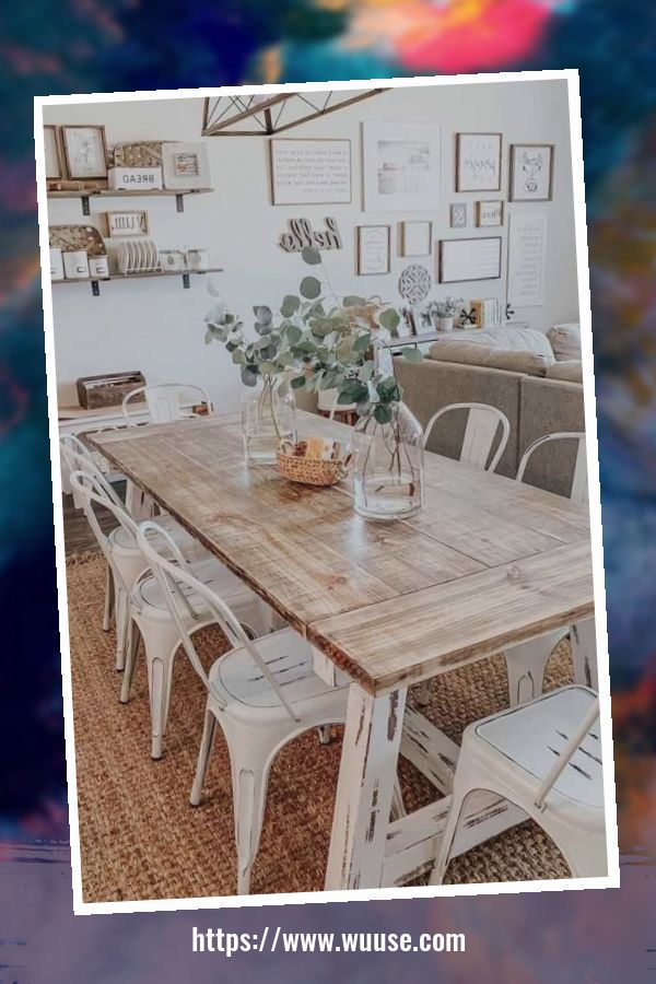 46 Smart Farmhouse Table Décor Ideas For Dining Room To Try 3