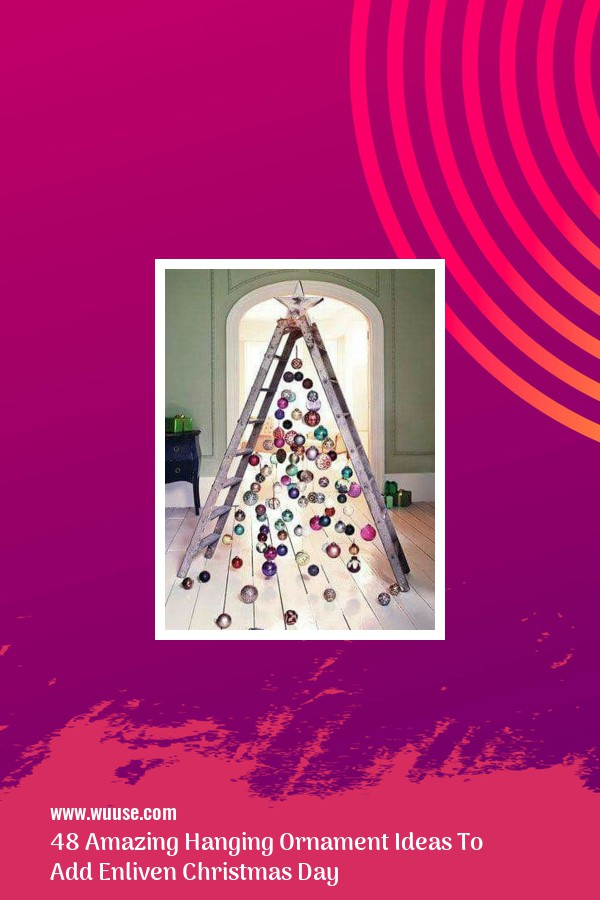 48 Amazing Hanging Ornament Ideas To Add Enliven Christmas Day 26