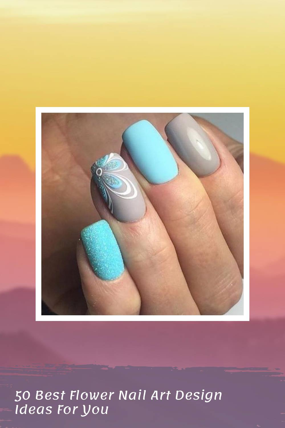 50 Best Flower Nail Art Design Ideas For You 1